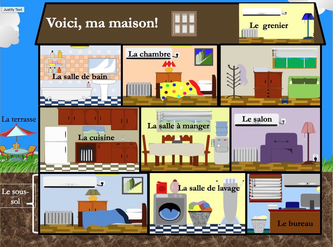 Maison les meubles introduction powerpoint presentation - Piece de la maison en c ...